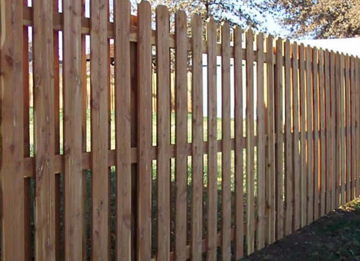 Wooden Fence with Space