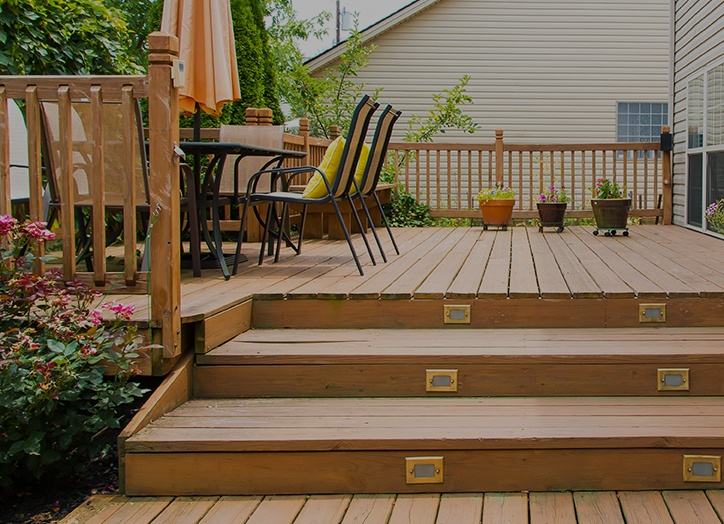 Wooden Deck Stair
